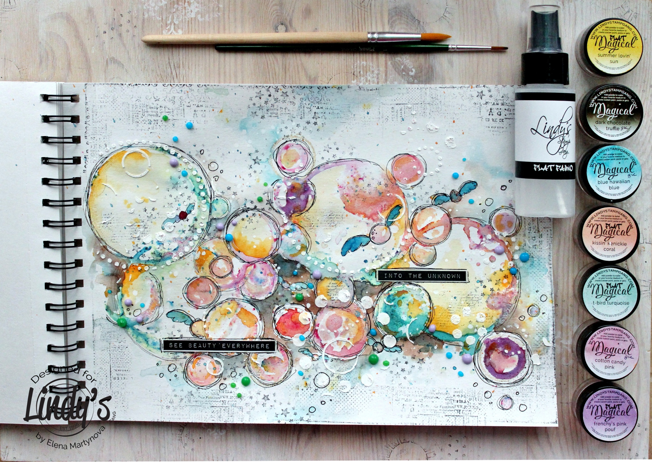 Art Journal Page Bubbles Lindy S Gang