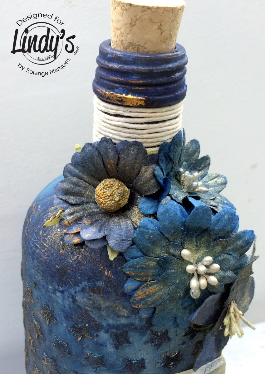 altered bottle by Solange Marques with Lindy's Stamp Gang products-04