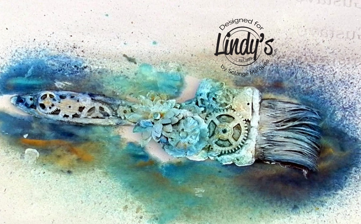 altered paint brush by Solange Marques with Lindy's Gang products-04
