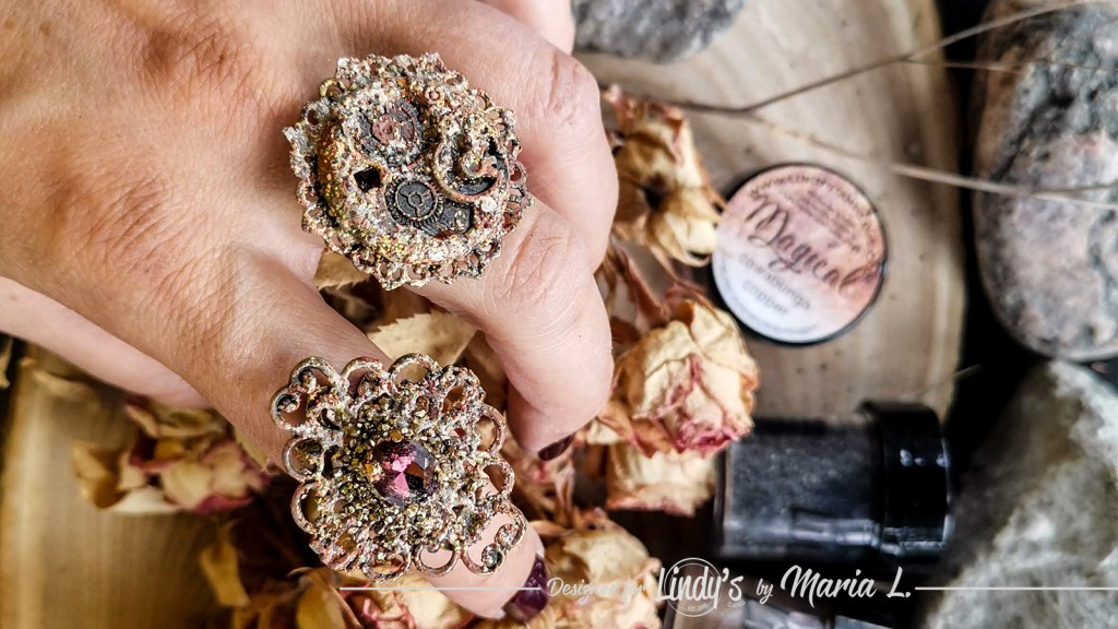 Mixed media rings DIY jewelry tutorial by Maria Lillepruun